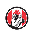 canadian gym circuit canada flag icon vector image vector image