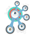 Circle template with flat icons vector image vector image