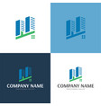 city logo and icon vector image vector image