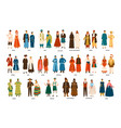 collection men and women dressed in folk vector image vector image