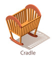 cradle icon isometric style vector image vector image