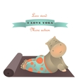 Cute animal of yoga pose vector image