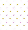cute seamless pattern with bows simple style vector image