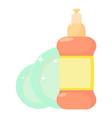 dischwashing liquid icon cartoon style vector image