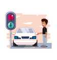 driver safely campaign label vector image vector image