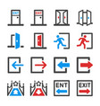 entrance and exit icon set vector image