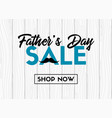fathers day sale banner vector image