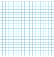Five millimeters grid cyan colour on white vector image vector image