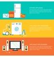 Flat home electronics appliances tehnology vector image