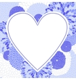 frame in form heart vector image