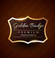 goldeb premium badge label design vector image vector image