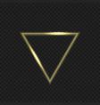 golden fire triangular vector image vector image