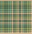 green mosaic fabric texture plaid seamless pattern vector image