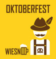 greeting card oktoberfest design - the icon with vector image