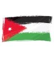 grunge jordan flag vector image vector image