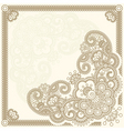 handdrawn henna mehndi abstract flowers vector ill vector image vector image