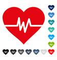 heart pulse icon vector image vector image