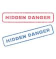 hidden danger textile stamps vector image vector image