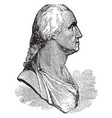 houdons bust of washington vintage vector image vector image