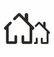 house icon home web sign vector image vector image
