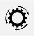icon setting parameters setting the work gear vector image vector image