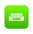 industrial building icon digital green vector image vector image