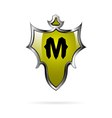 Iron shield with letter M vector image