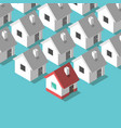 isometric houses home concept vector image