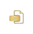 JS computer symbol vector image