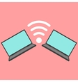 laptops with wi-fi icon vector image vector image