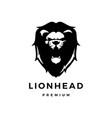 lion head logo icon vector image vector image
