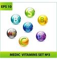 medic pills set vector image