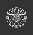 modern highlanders bull logo vector image vector image