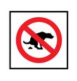 no dog shit icon vector image vector image