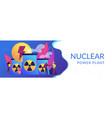 nuclear energy concept banner header vector image