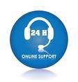 Online Support and headphones design vector image vector image