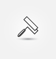 paint roller icon - abstract symbol vector image