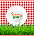 picnic table cloth seamless checkered vector image