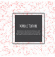 pink white marble template trendy pattern vector image