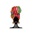 portrait african woman in ethnic turban head wraps vector image vector image