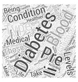 Pre Diabetes Word Cloud Concept vector image vector image
