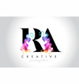 ra vibrant creative leter logo design with vector image vector image