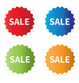 sale icons on white background set sale tags vector image vector image