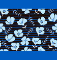 seamless pattern with beautiful small blue flowers vector image vector image