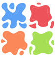 set of four multi color splashes vector image vector image