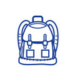 silhouette backpack object with pockets and vector image vector image