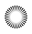simple circle sunshine symbol radial burst black vector image vector image