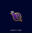 snail luxury template vector image vector image
