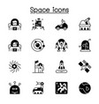 space icon set graphic design vector image