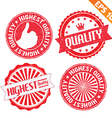 Stamp sticker Premium collection - - EPS10 vector image